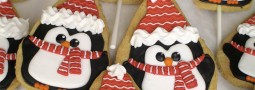 Penguins cookie pops