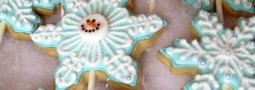 Snow Flakes cookie pops