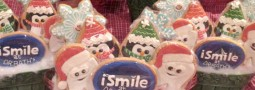 Santa Teeth, Penguins and Snow flakes cookie pops basket