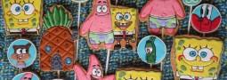 SpongeBob cookie pops