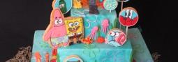 SpongeBob cookie pops cake!