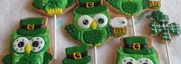 Happy S. Patrick's Day cookie pops