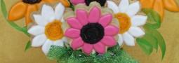 Spring bouquet cookie pops