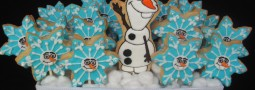 Olaf – Frozen – cookie pops