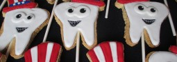 Uncle Sam patriotic teeth cookie pops
