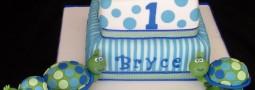 Turtle cake – First birthday cake