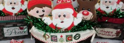Santa Claus and helpers cookie pops basket