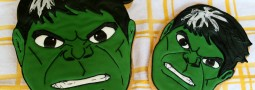 Hulk cookie cake topper and cookie pops