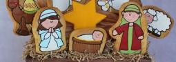 Christmas Nativity Cookie pops basket