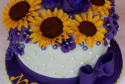 Sunflowers cake