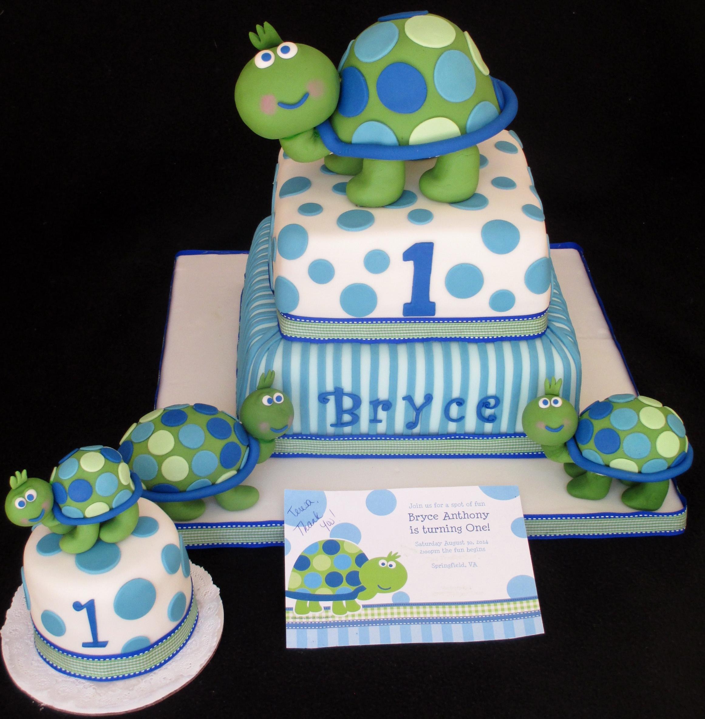 Turtle Cake First Birthday Cake Dolce Ladybug