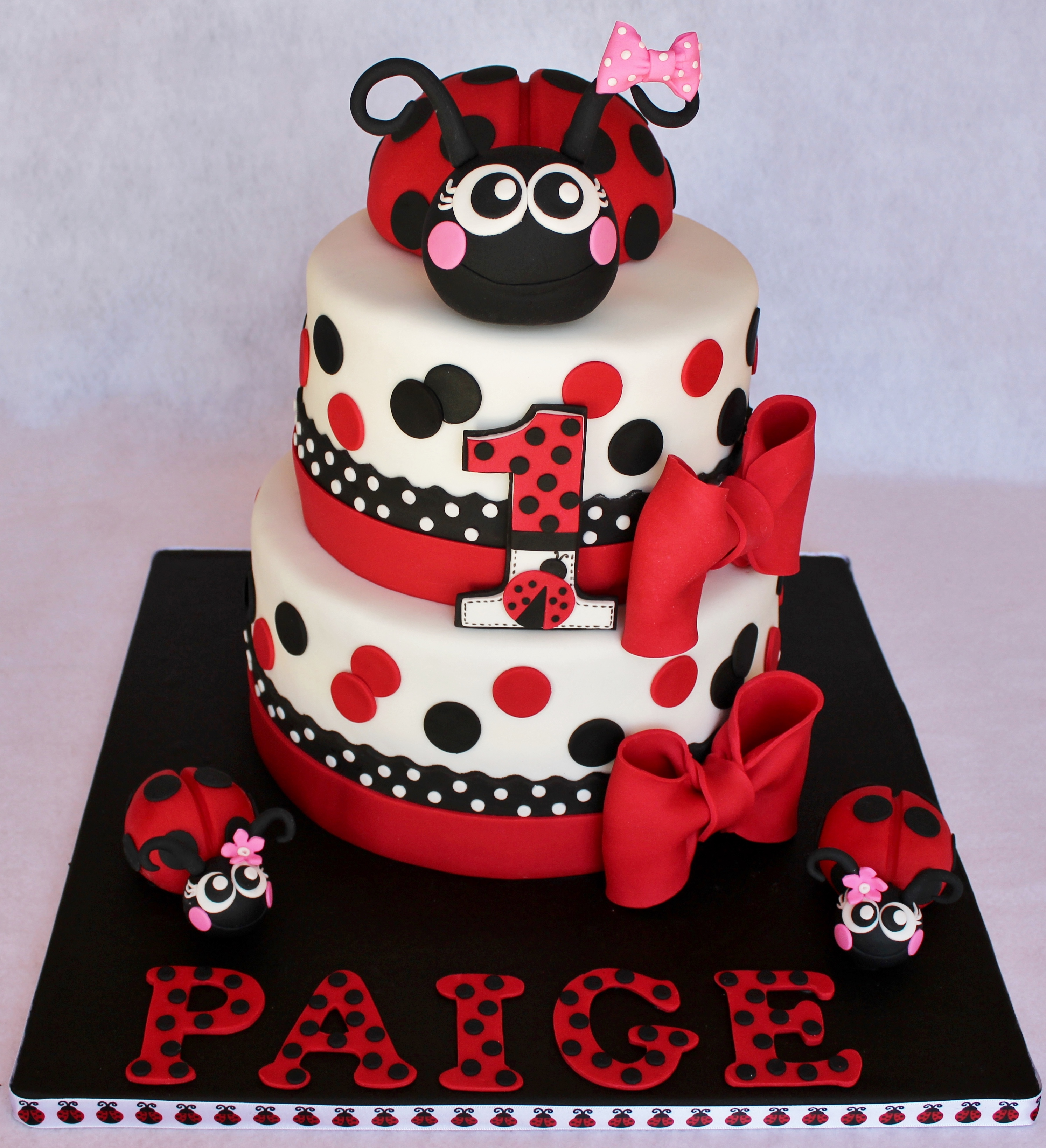 Lady Beetle Cake Toppers